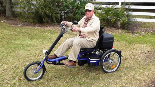 adult recumbent electric trike tricycle