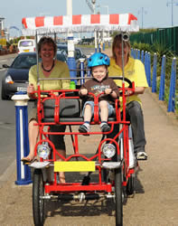 Try A Four Wheel Bicycle Pedal Car Surrey For 2 4 And 6 Pedalers