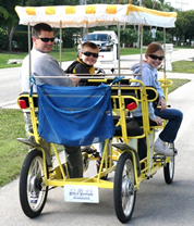 4 wheel bike, four wheel bicycle, 4 person bike, four person bicycles